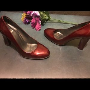 Stuart Weitzman Square toe pumps Ruby Red 6